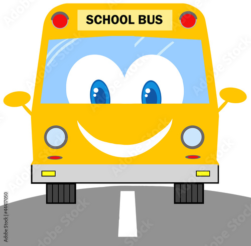 School Bus Cartoon Character