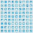 81 Web Icon Internet Business Button Set - blau - schatten