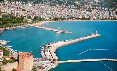 Panorama of holiday resort in Turkey, Alanya
