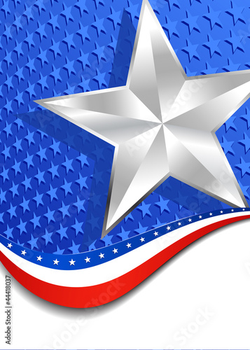 Stars and Stripes Portrait Silver Star