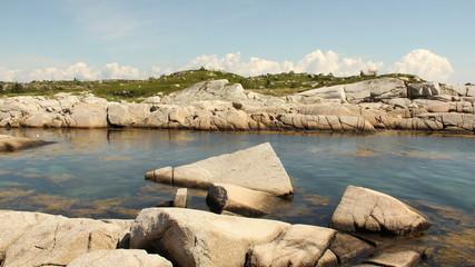 Time lapse at Peggy's Cove, Nova Scotia, Canada.
