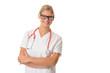 Lächelnde junge Ärztin