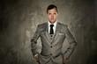 Man in grey suit