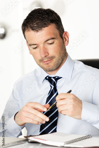 businessman and pen