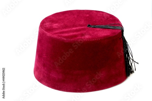 Turkish ottoman fez, traditional hat,