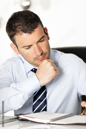 pensive businessman