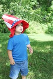 Baby boy wearing 4th of July hat
