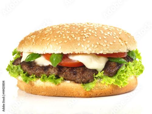 Hamburger mit Tomate und Mozzarella