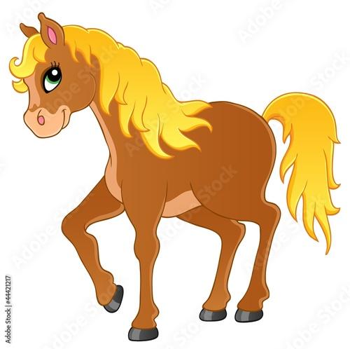 Fotobehang Pony Horse theme image 1