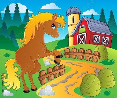 Fotobehang Pony Horse theme image 4