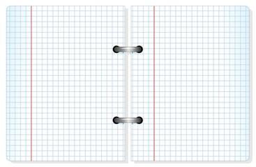 Notebook Squared Sheet Paper-Quaderno fogli a quadretti-vector