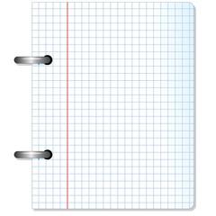 Squared Sheet Paper-Foglio di carta a Quadretti-Vector