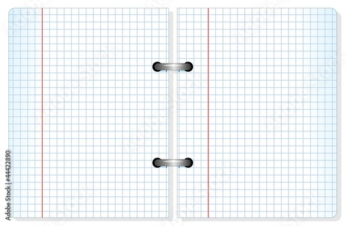 Notebook Squared Sheet Paper-Quaderno fogli a quadretti-vector