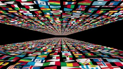 Carpet of World Flags universe, loop