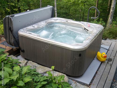 Leinwanddruck Bild Hot Tub Spa