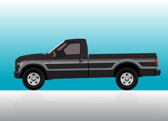 Pick-up truck black