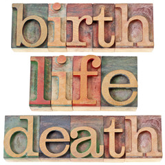 birth, life, and death words
