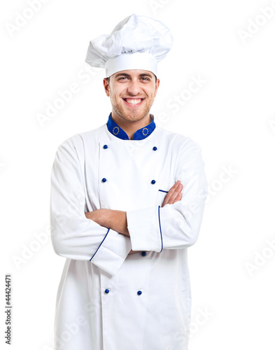 Chef isolated on white