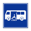 Señal autobus para minusvalidos