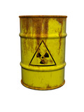 Barrel with nuclear waste