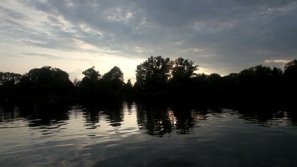 Sunset cruise on lake Ontario, Toronto island