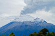 Closeup of Tungurahua Volcano  a large amount of ashes