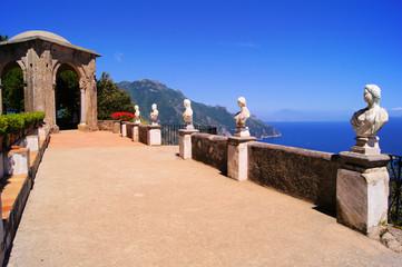 Terrace of Infinity above the Amalfi Coast, Ravello, Italy