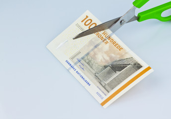 Dänische Kronen. Währung Dänemarks