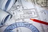 Bauplan eines Wohnhauses. Hausbau - 44430011