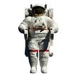Leinwanddruck Bild - spacewalking astronaut - 3d illustration front view on white