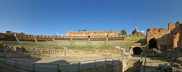 The Ancient theatre of Taormina, sicily
