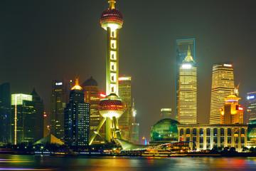 night view of China shanghai