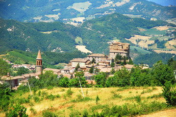Agata Feltria village and landscape overview