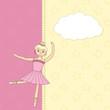 kid girl shower with ballerina
