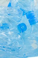 bouteilles plastique compactées