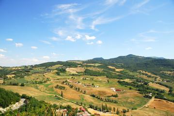Romagna Apennines landscape around San-Leo castle.