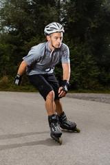 Sportler auf Inline-Skates