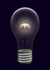 Light Bulb Brain Creative