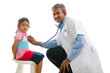 asian indian doctor with a young girl