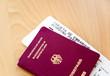 Reisepass mit Flugticket I