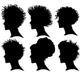 Fototapete Frau - Stil - Haare