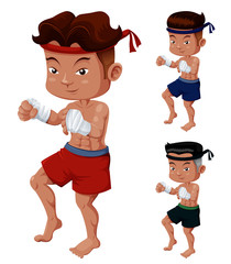 Illustration of Thai Boxing
