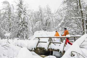 sportlich aktiv im Winter