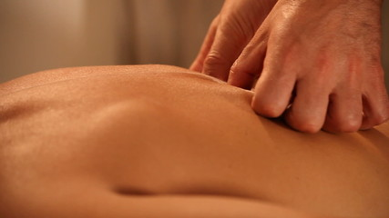 Man receiving tantra massage relax