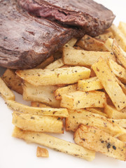 Carne y patatas fritas