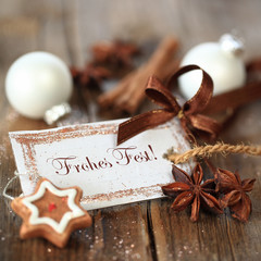 "Weihnachtsanhänger ""Frohes Fest"""