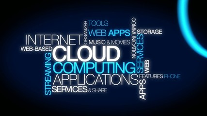 Cloud computing applications web services word tag video