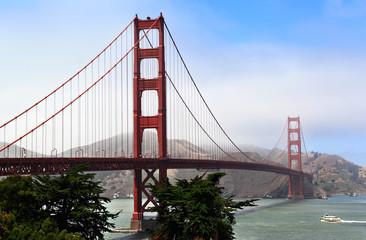 Fog Rolling on Golden Gate Bridge