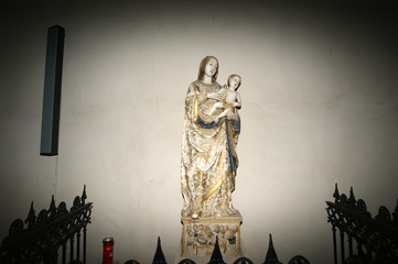 Madonna and Child. Cathedral-Basilica of Cefalu