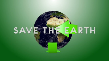 Earth environmental protection concept seamless looping 3D